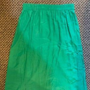 silk midi skirt, lined
